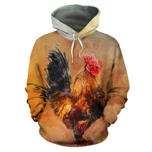 All over print hoodie for men & women - Chicken 21