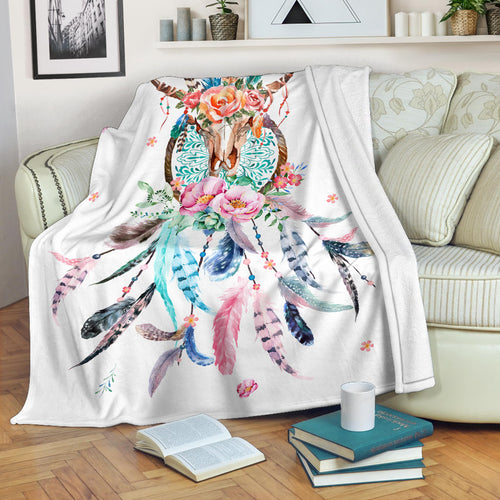 Premium Blanket Cute Cow Printed-sk05