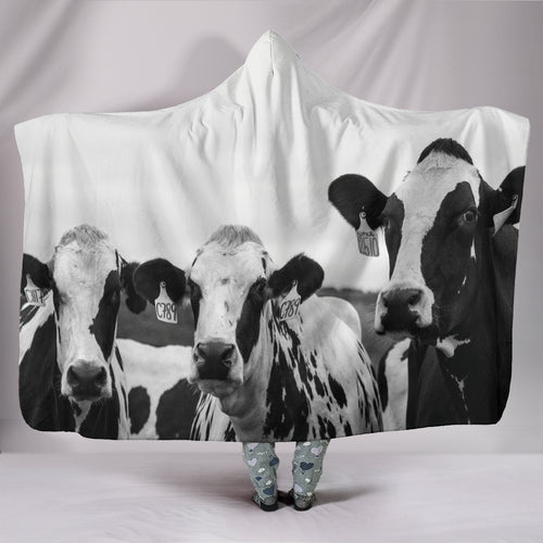 Hooded Blanket - cow style 7