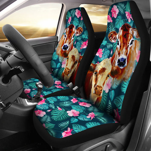 Cow flowers - Car Seat Covers