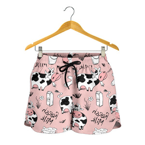 All over print women's shorts - cow 6