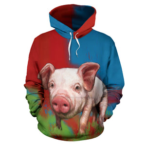 All over print hoodie for men & women - Pig 10
