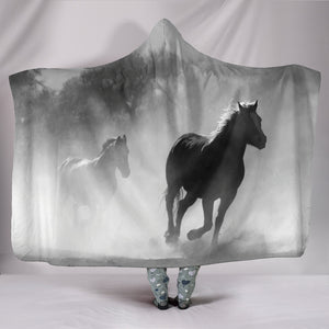 Hooded Blanket - horse style 15
