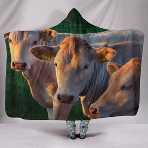 Hooded Blanket - cow style 25