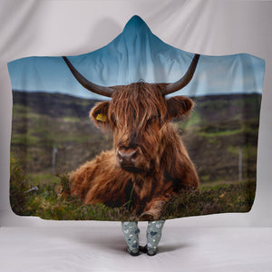 Hooded Blanket - cow style 10