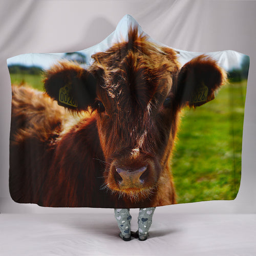 Hooded Blanket - cow style 2