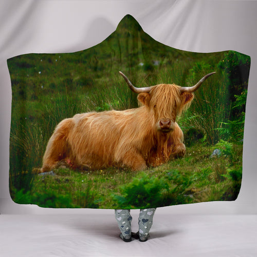 Hooded Blanket - cow style 9