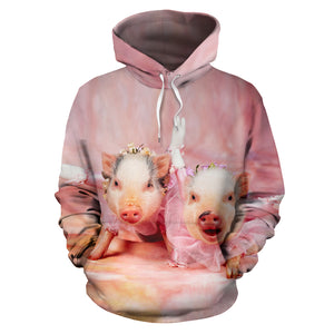 All over print hoodie for men & women - Pig 12