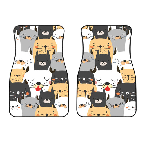 Front car mats (set of 2) - Cat Lovers 03