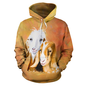 All over print hoodie for men & women - goat 24