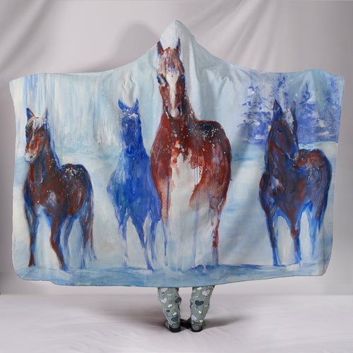 Hooded Blanket - horse style 05