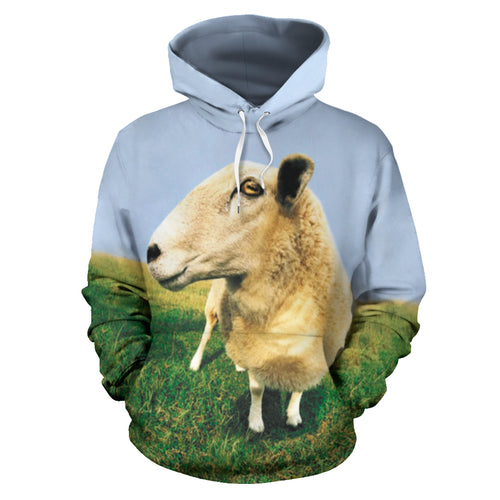All over print hoodie for men & women - Goat 03