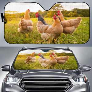 Auto Sun Shades - Chicken 12