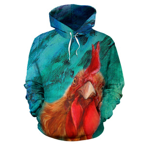 All over print hoodie for men & women - Chicken 19