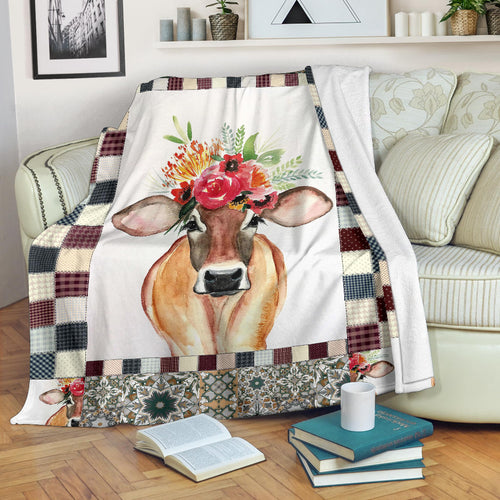 Premium Blanket Cute Cow Printed-sk03