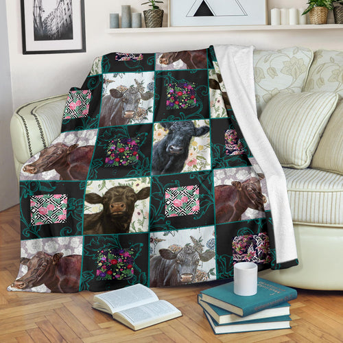 Premium Blanket Cute Cow Printed-sk01