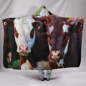 Hooded Blanket - cow style 8