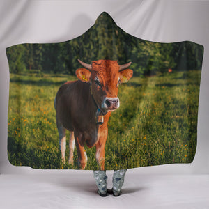 Hooded Blanket - cow style 4