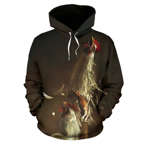 All over print hoodie for men & women - Chicken 12