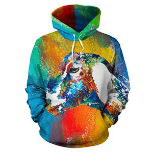 All over print hoodie for men & women - goat  18
