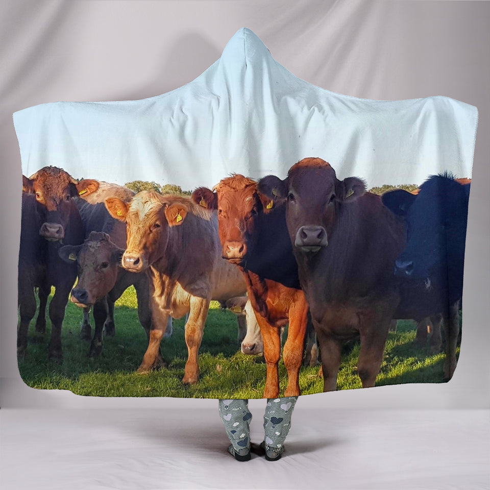 Hooded Blanket - cow style 26