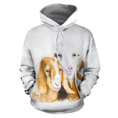 All over print hoodie for men & women - goat 10