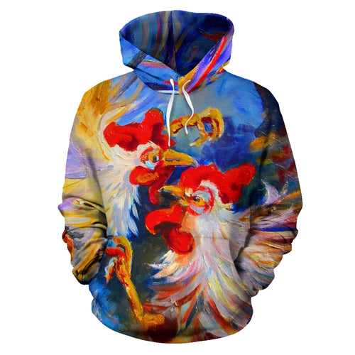All over print hoodie for men & women - Chicken 18