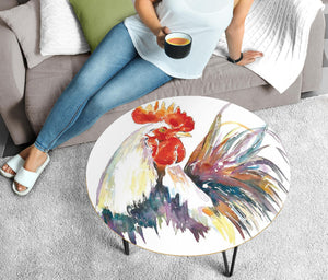 Circular Coffee Table - Chicken Lovers 01 (US Only)