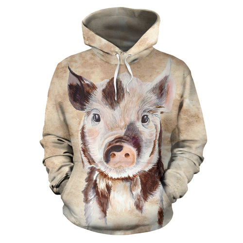 All over print hoodie for men & women - Pig 04