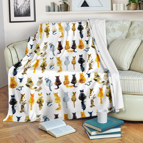 Premium Blanket Printed-sk04 for Cat Lovers