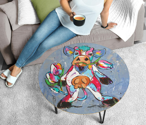Circular Coffee Table - Cow Lovers 06 (US Only)