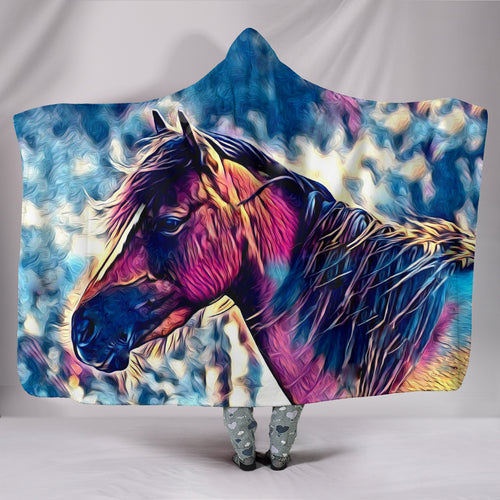 Hooded Blanket - horse style 32