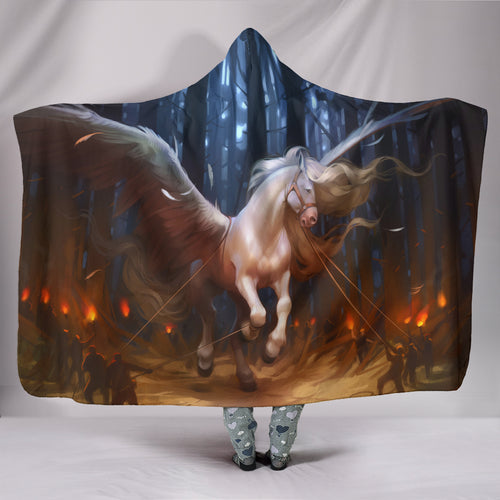 Hooded Blanket - horse style 24