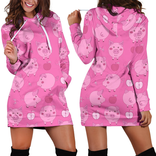 Women's Hoodie Dress - Pig 10