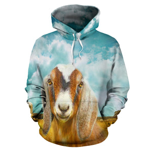 All over print hoodie for men & women - Goat 26