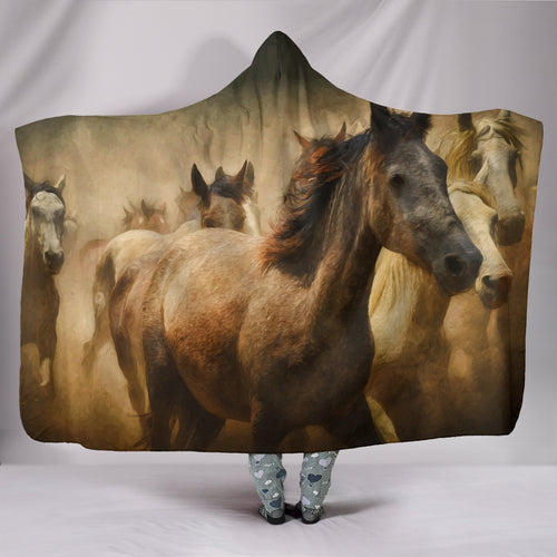 Hooded Blanket - horse style 12