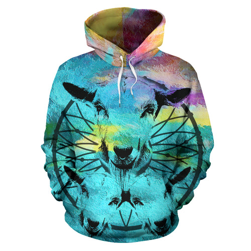 All over print hoodie for men & women - Goat 14