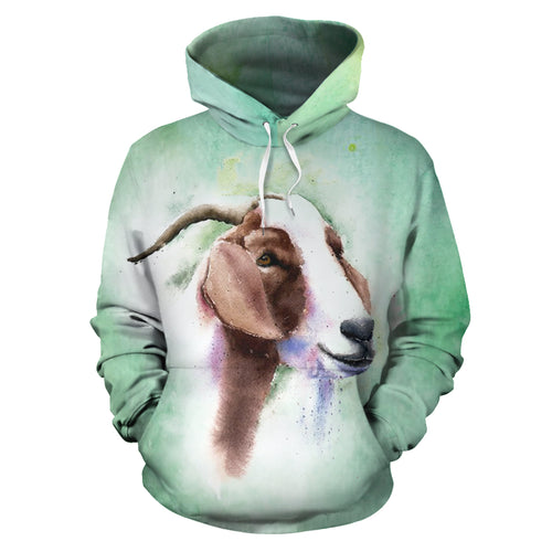 All over print hoodie for men & women - goat 21