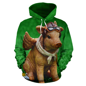 All over print hoodie for men & women - Pig 08