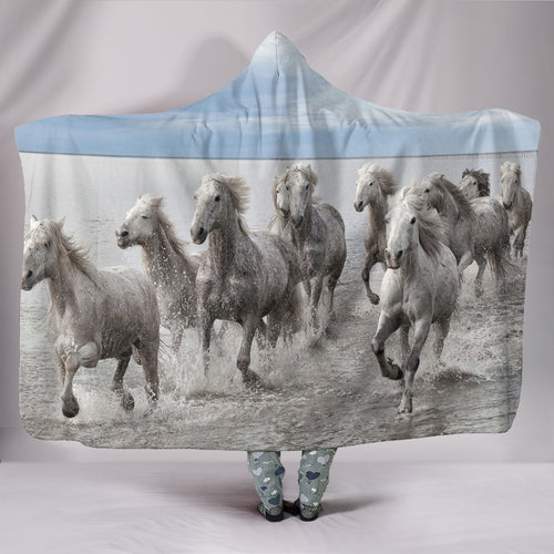 Hooded Blanket - horse style 21