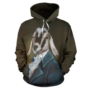 All over print hoodie for men & women - goat 11
