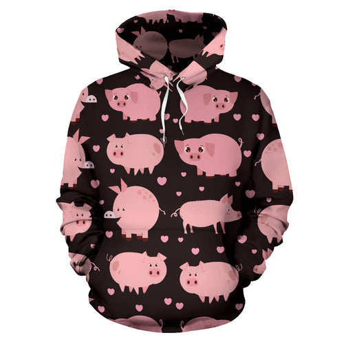 All over print hoodie for men & women - Pig