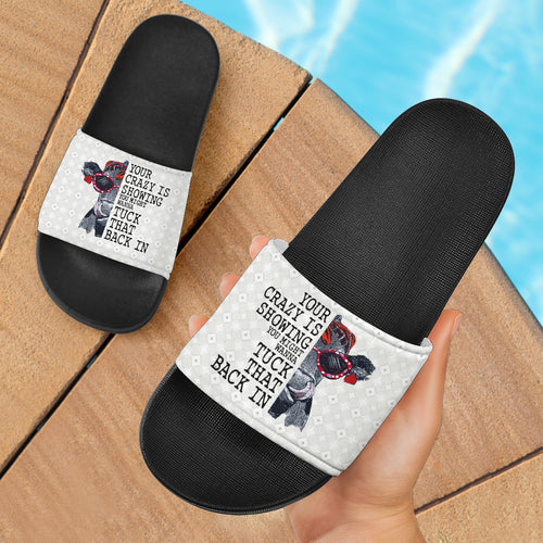 Slide Sandals Black - Cow 03
