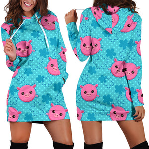 Women's Hoodie Dress - Pig 15