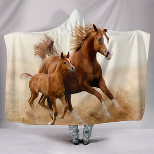 Hooded Blanket - horse style 13