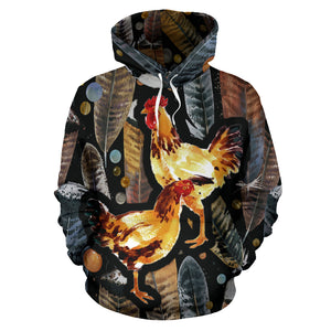 All over print hoodie for men & women - Chicken 22