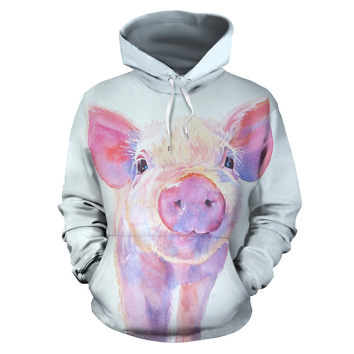 All over print hoodie for men & women - Pig 01