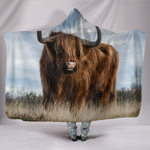 Hooded Blanket - cow style 15