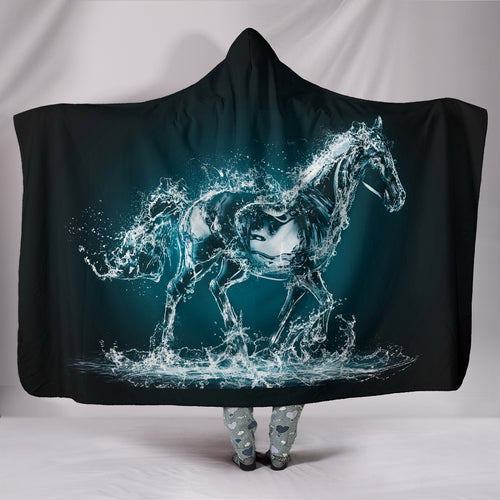 Hooded Blanket - horse style 31