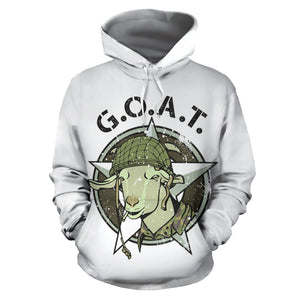 All over print hoodie for men & women - Goat 01